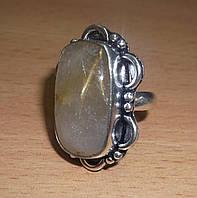 """Кольцо с рутиловым кварцем (волосатиком)""""Влада"""", размер 17,5 от Студии  www.LadyStyle.Biz"""