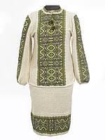 Вязаный женский костюм Влада зеленая | В'язаний жіночий костюм Влада зелена
