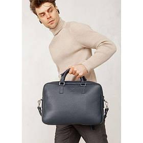 Кожаная деловая сумка Briefcase 2.0 синий Флотар