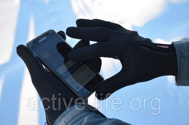 """Перчатки зимние + сенсор для смартфонов, лыжные,  непродуваемые """"Windstopper"""" Touch - NEW 2018! + Відео, фото 1"""