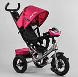 Дитячий триколісний велосипед з батьківською ручкою, козирком, кишенькою 3390/11-818 Best Trike, рожевий, фото 2