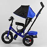 Дитячий велосипед з трьома колесами зі звуковими і світловими ефектами 3390/65-005 Best Trike, колір синій, фото 3