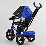 Дитячий велосипед з трьома колесами зі звуковими і світловими ефектами 3390/65-005 Best Trike, колір синій, фото 5