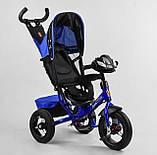 Дитячий велосипед з трьома колесами зі звуковими і світловими ефектами 3390/65-005 Best Trike, колір синій, фото 4