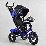 Дитячий велосипед з трьома колесами зі звуковими і світловими ефектами 3390/65-005 Best Trike, колір синій, фото 6