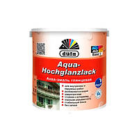 Акваэмаль белая глянцевая Aqua-Hochglanzlack Dufa  2.5 л