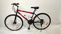 Велосипед с бесплатной доставкой SPARK RIDE ROMB V.21 26-ST-18-ZV-V (Черный с красным), фото 1