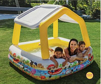 """Детский надувной бассейн 57470 NP(3) Intex """"Аквариум"""" со съемной крышей, размер 157х122, объем 280 л"""
