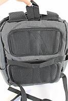 Городской стильный серый рюкзак с USB зарядкой и отделением под ноутбук, рюкзак с зарядкой для телефона, фото 8