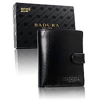 Чоловічий шкіряний гаманець Badura з RFID 11,5 х 9,5 х 2,5 (PO_M083CZ_CE) - чорний, фото 1