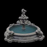 """Садовый фонтан """"Девушка на камне"""" двухъярусный, фото 1"""