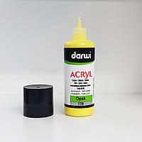 Акриловая краска Дарви Darwi, укрывистая, туба с узким носиком, обьем 80 мл, насыщенный желтый №720