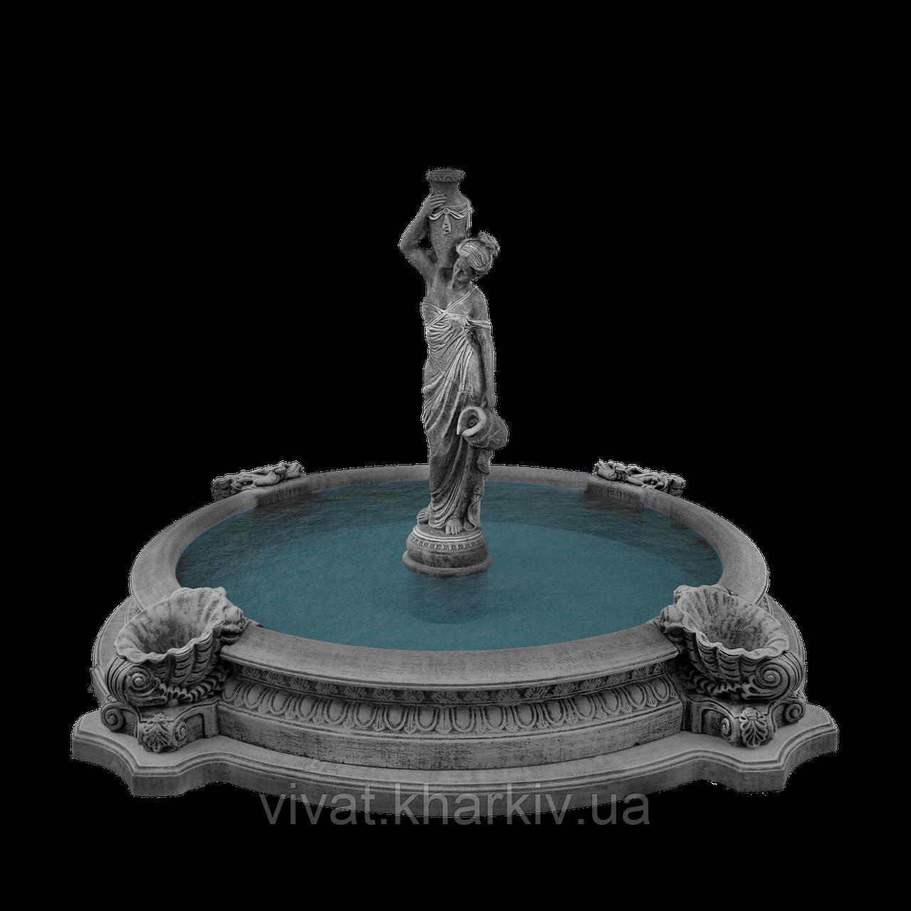 """Садовый фонтан """"Девушка с кувшинами №2"""