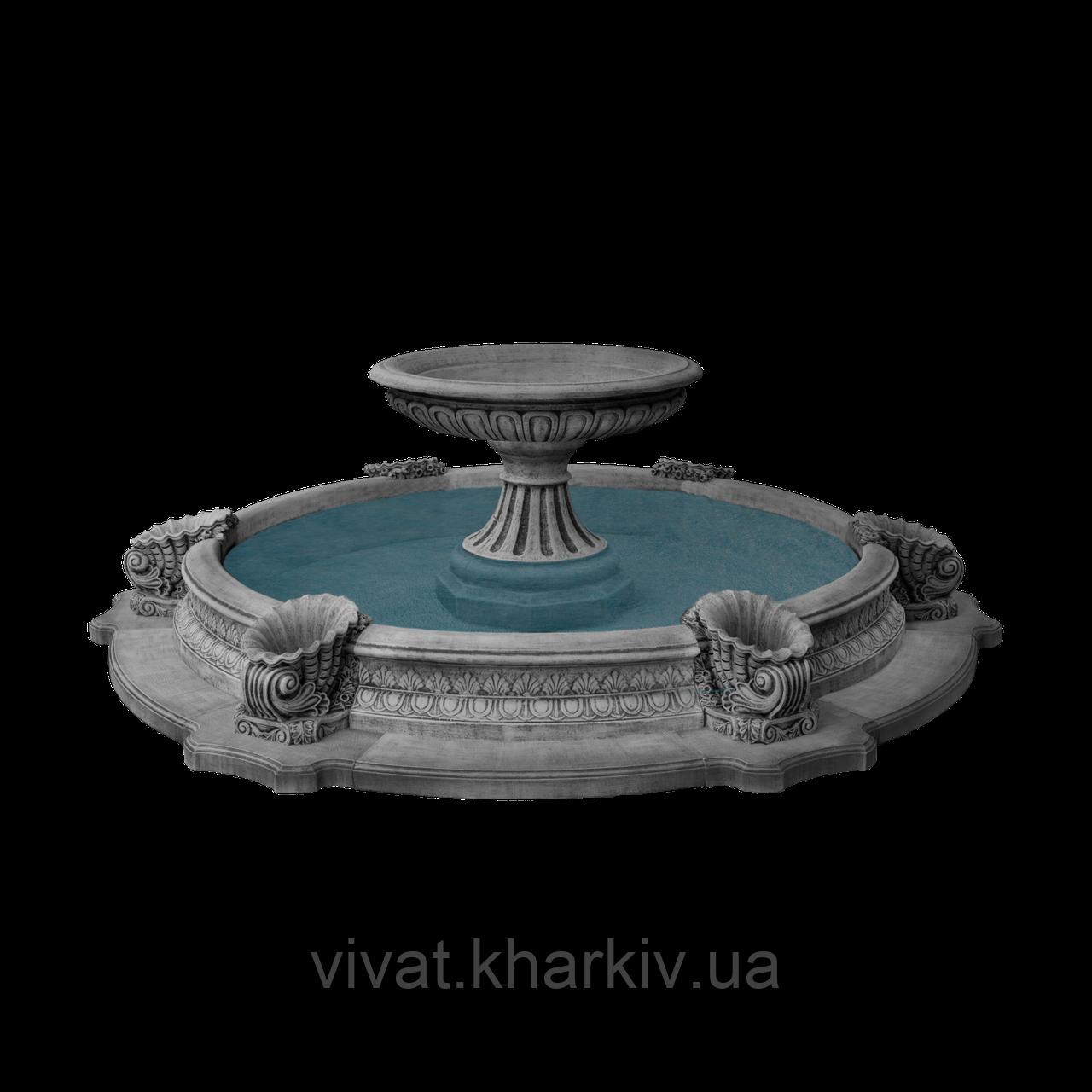 """Садовый фонтан """"Чаша"""" в большом бассейне"""