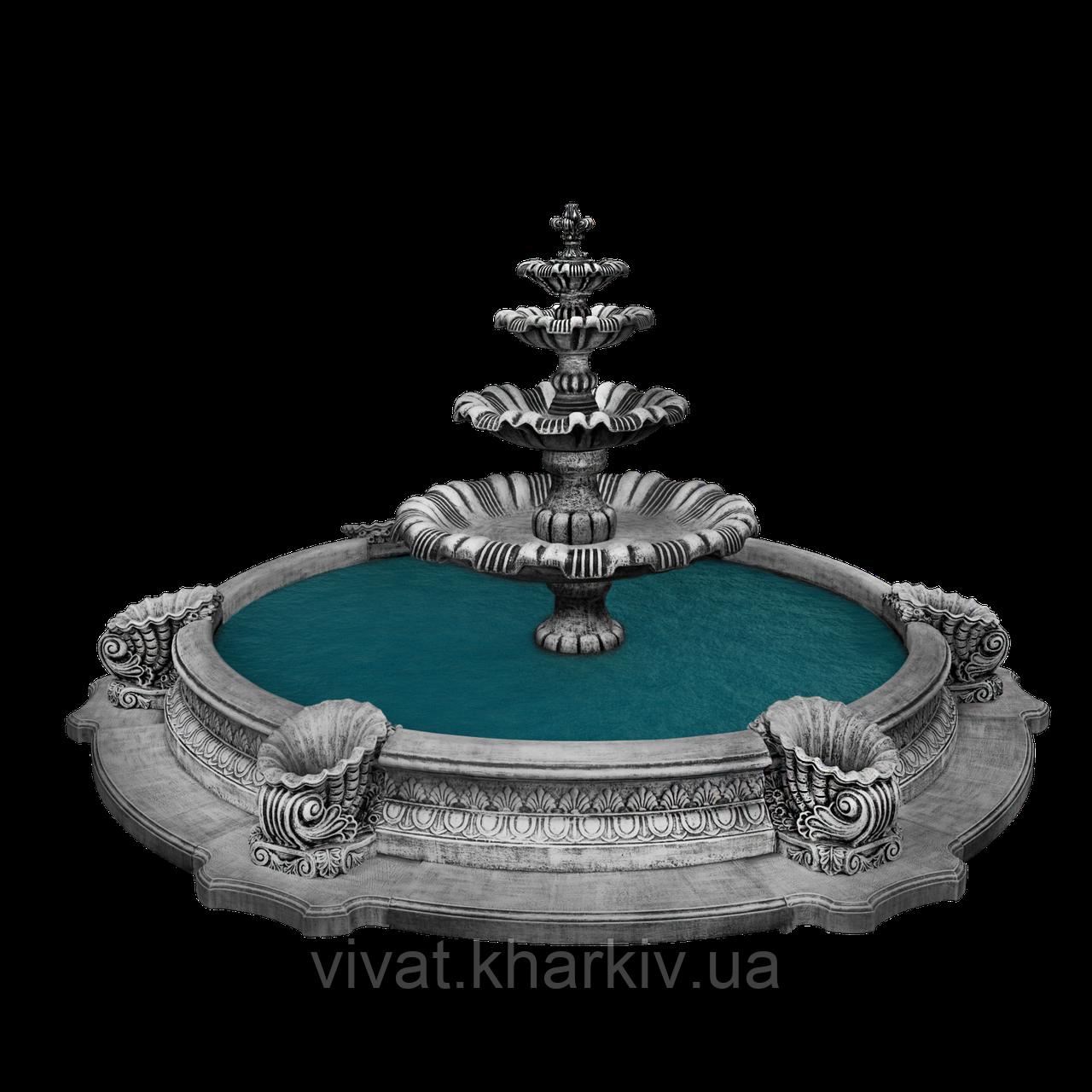 """Садовый фонтан """"Жемчужина"""" в большом бассейне"""