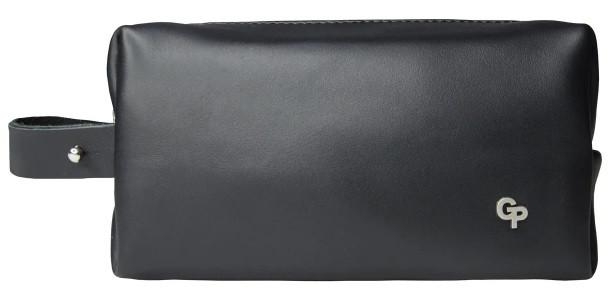 Чоловіча сумочка Grande Pelle з натуральної шкіри, чоловічий несесер чорного кольору, глянсовий