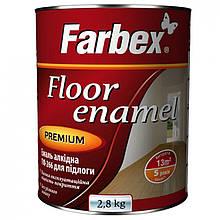 """Емаль алкідна """"Farbex"""" ПФ-266 червоно-коричнева 2,8 кг"""