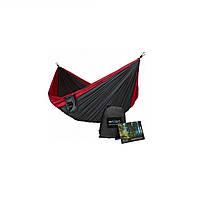 Подвесной гамак для отдыха RenGard, цвет Красно-черный 260 х140 см
