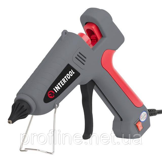 Пістолет клейовий 100(300)Вт,230В,215-230°C під стрижні 10.8-11.5 мм, 13-30 м/хв.,вимикач INTERTOOL RT-1106