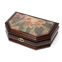 Шкатулка для хранения бижутерии с тканевым декором BS001