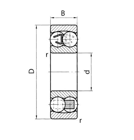 Підшипник 1506 (2206)  HARP *, розміри:**, фото 2