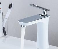 Смеситель для умывальника кран в ванну однорычажный WanFan люкс качества Белый