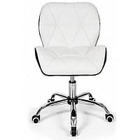 Офисное кресло операторское для персонала, кресло для офиса компьютерное белый верх, стулья офисные