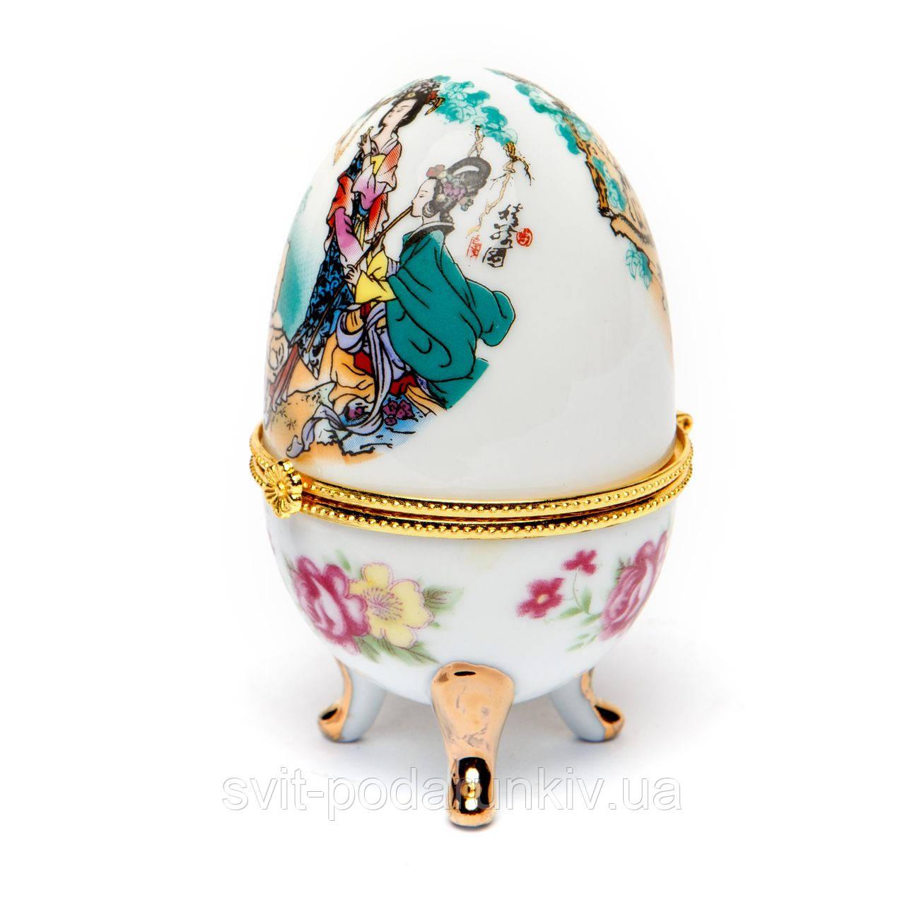 Шкатулка из фарфора №3-2 яйцо