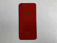 Apple iPhone 8 Red красная задняя крышка со стеклом камеры, стекло.