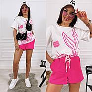 Жіночий костюм з футболкою і шортами, фото 3