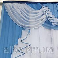 Красива фіранка в дитячу спальню кухню, модні фіранки для залу спальні, якісний тюль для залу вітальні кімнати ALBO 200x160 см, фото 8