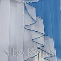 Красива фіранка в дитячу спальню кухню, модні фіранки для залу спальні, якісний тюль для залу вітальні кімнати ALBO 200x160 см, фото 7