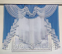 Красива фіранка в дитячу спальню кухню, модні фіранки для залу спальні, якісний тюль для залу вітальні кімнати ALBO 200x160 см, фото 6
