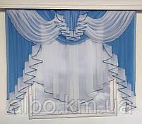 Красива фіранка в дитячу спальню кухню, модні фіранки для залу спальні, якісний тюль для залу вітальні кімнати ALBO 200x160 см, фото 9