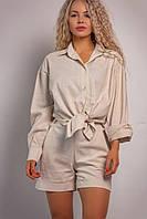 Женский классический комплект (шорты+рубашка) Linen, фото 1