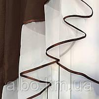 Готовый тюль с ламбрекеном для зала спальни кухни, тюль кухонный, тюль шифон для гостинной зала хола ALBO, фото 7