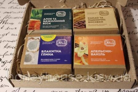 """Набор подарочный  №3 """"Мыло 4 вкуса"""" (4 ед., ТМ ЯКА)"""
