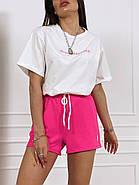 Жіночий костюм з футболкою і шортами на зав'язках, фото 4