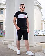 Чоловічий літній костюм з шортами 266 (48-50; 52-54; 56-58; 60-62) (чорний, червоний, бордо) СП, фото 1