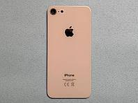 """Apple iPhone 8 Gold """"золотая"""" задняя крышка со стеклом камеры, стекло"""