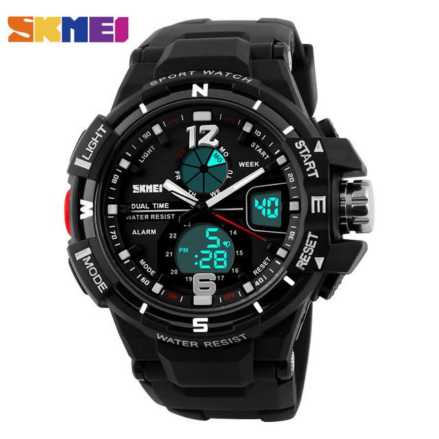 Skmei 1148 черные мужские спортивные часы