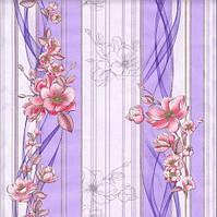 Обои бумажные простые Эксклюзив 068-05 без подборки фиолетовые 0,53*10 м