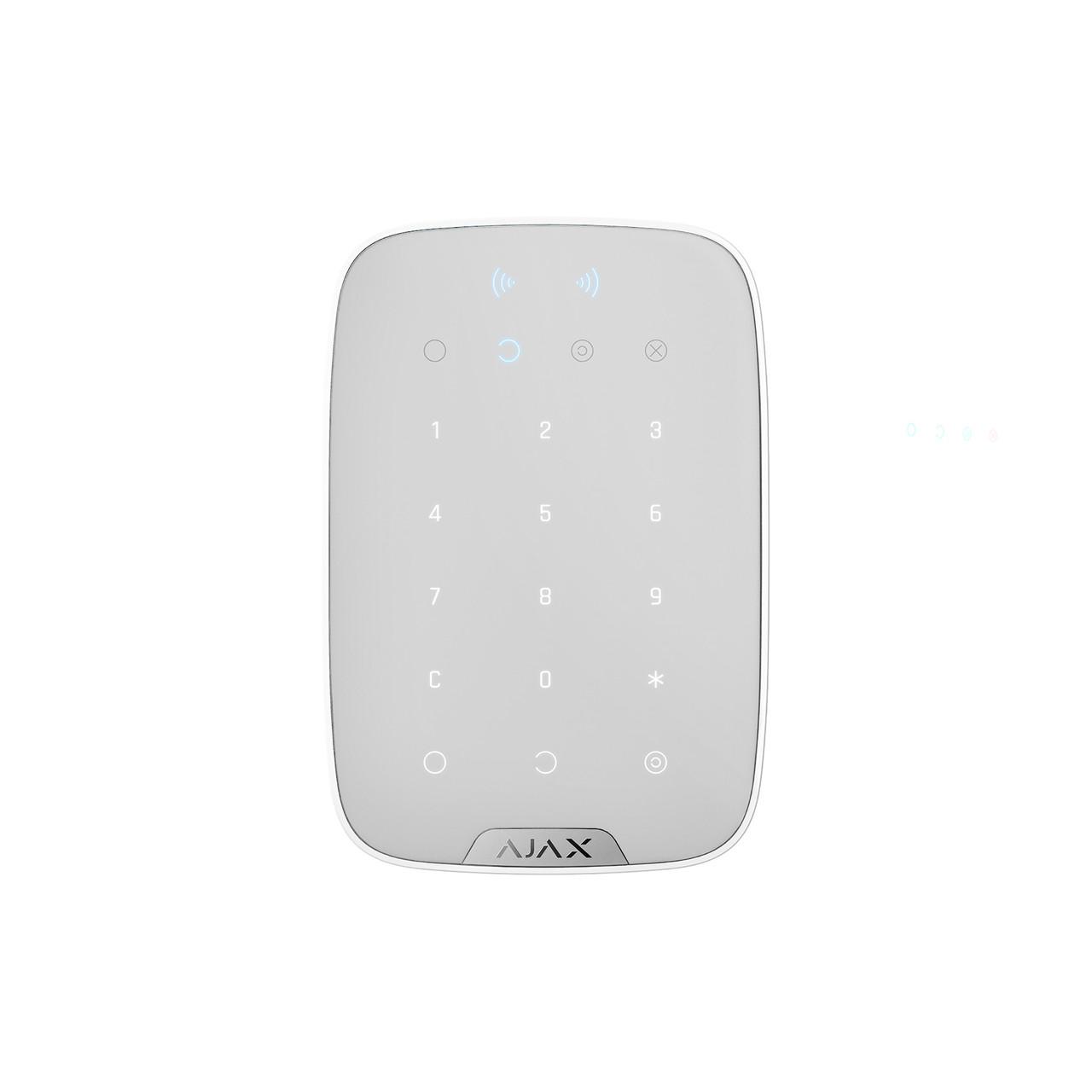 Бездротова сенсорна клавіатура Ajax KeyPad Plus біла