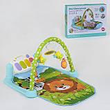 Ігровий килимок для немовляти зі звуком M 5471 (9911), дуга з підвісками, піаніно, працює на батарейках, фото 2
