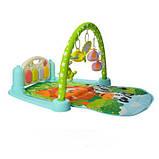 Ігровий килимок для немовляти зі звуком M 5471 (9911), дуга з підвісками, піаніно, працює на батарейках, фото 4