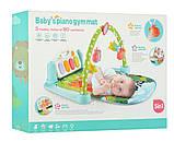 Ігровий килимок для немовляти зі звуком M 5471 (9911), дуга з підвісками, піаніно, працює на батарейках, фото 5