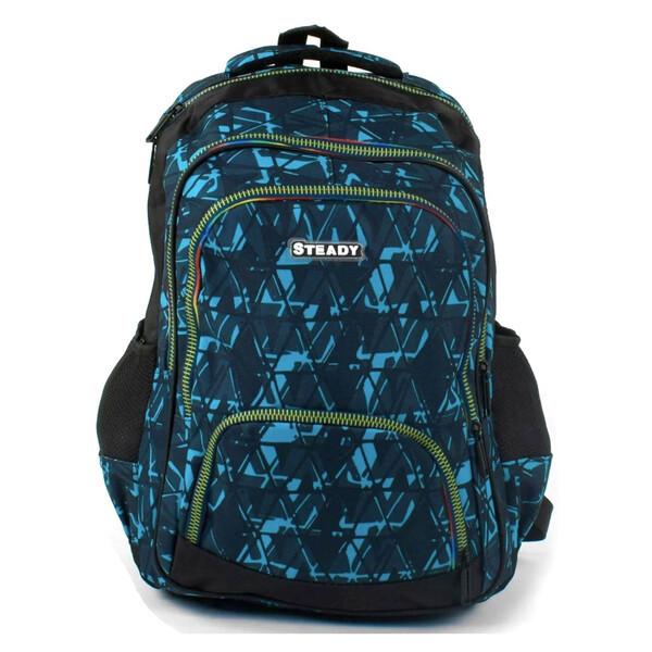 Рюкзак подростковый в школу молодежный для мальчика-девочки 41 см Черно-голубой (25515)