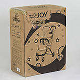 Коляска прогулочная детская JOY Vittoria 71055 Коричневый Лен алюминиевая рама, футкавер, фото 2