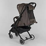 Коляска прогулочная детская JOY Vittoria 71055 Коричневый Лен алюминиевая рама, футкавер, фото 6