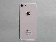 Apple iPhone 8 Silver задняя крышка белого цвета со стеклом камеры, стекло